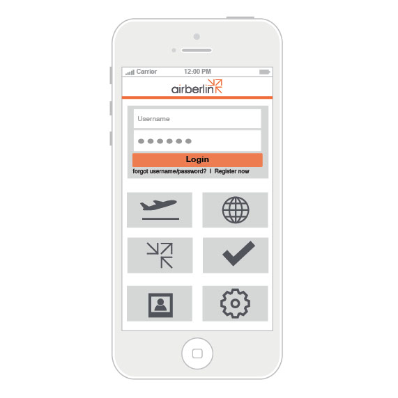 Airberlin Mobile Application Prototype